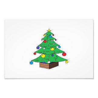 De verfraaide cartoon van de Kerstboom Foto Prints
