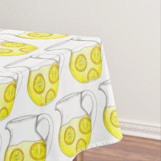 De verfrissende Gele Drank van de Waterkruik van Tafelkleed