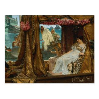 De vergadering van Antony en Cleopatra door Briefkaart