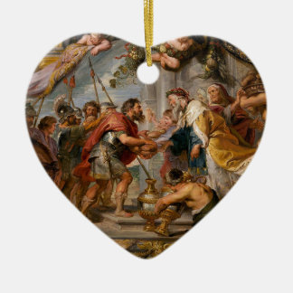 De vergadering van het Art. van Abraham en van Keramisch Hart Ornament