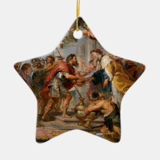 De vergadering van het Art. van Abraham en van Keramisch Ster Ornament