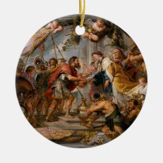 De vergadering van het Art. van Abraham en van Rond Keramisch Ornament