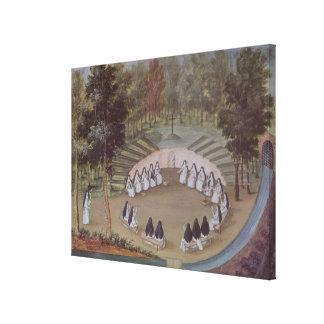 De Vergadering van nonnen in Eenzaamheid Canvas Print
