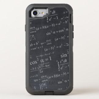 De Vergelijkingen van de wiskunde op Bord Grappige OtterBox Defender iPhone 8/7 Hoesje