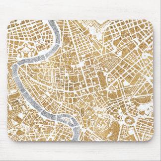 De vergulde Kaart van de Stad van Rome Muismat