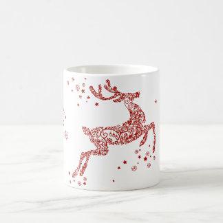 De vergulde Rode Gift van Kerstmis van de Koffiemok