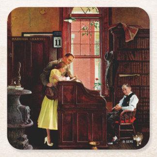 De Vergunning van het huwelijk door Norman Vierkanten Viltjes