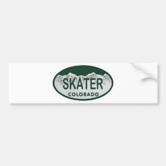 De vergunningsovaal van de schaatser bumpersticker