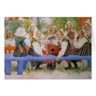 De Verjaardag 1909 van Kersti Wenskaart