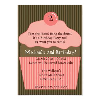 De Verjaardag van Cupcake 12,7x17,8 Uitnodiging Kaart