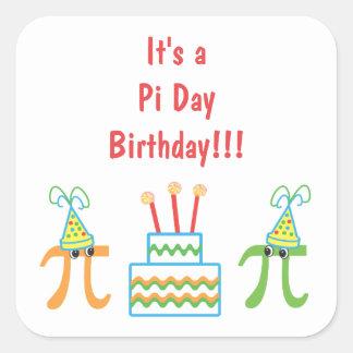 De Verjaardag van de Dag van pi Vierkante Sticker