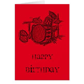 De verjaardag van de de uitrustingspopgroep van de wenskaart