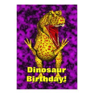 De Verjaardag van de dinosaurus nodigt uit Kaart