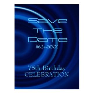 De Verjaardag van de draaikolk vijfenzeventigste Briefkaart
