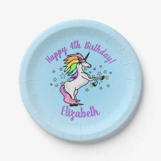 De Verjaardag van de Eenhoorn van de Regenboog van Papieren Bordje