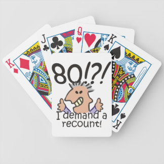 De Verjaardag van de hertelling tachtigste Poker Kaarten