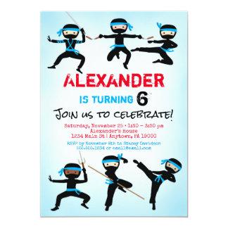 De Verjaardag van de Jongen van Ninja van de Kaart