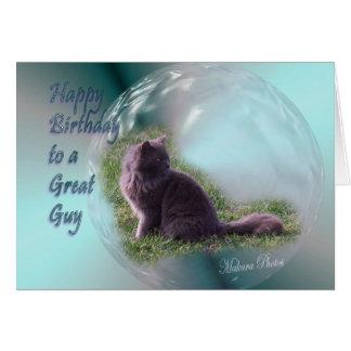 De Verjaardag van de kat kaart-past aan Briefkaarten 0