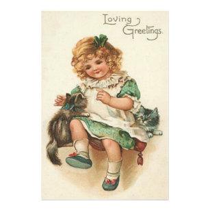 Gelukkige Verjaardag Kat Kunst Posters En Afdrukken Zazzle Nl