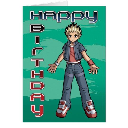De Verjaardag van de Kerel van Manga Wenskaart