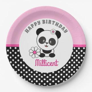 De Verjaardag van de Panda van het baby Papieren Bordje