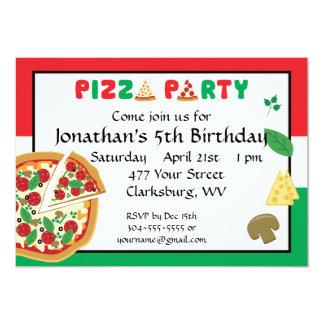 De Verjaardag van de Partij van de pizza Kaart