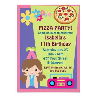 De Verjaardag van de Partij van de Pizza van het Kaart