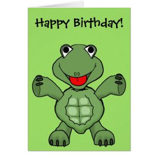 De Verjaardag van de schildpad Wenskaart