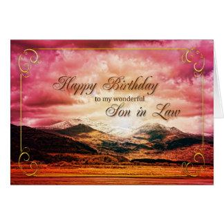 De verjaardag van de schoonzoon, Zonsondergang Kaart