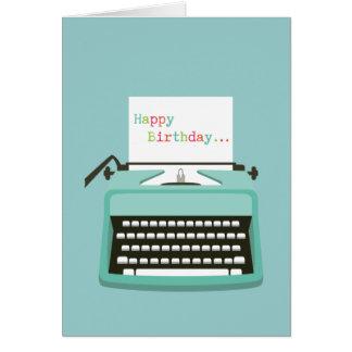 De Verjaardag van de schrijfmachine Kaart