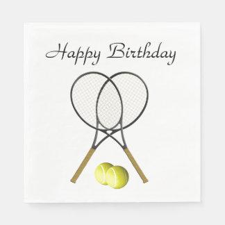 De Verjaardag van de Sport van het Tennis van Papieren Servet