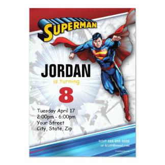 De Verjaardag van de superman 12,7x17,8 Uitnodiging Kaart