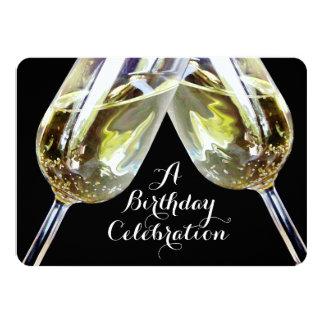 De Verjaardag van de Toost vijftigste van 11,4x15,9 Uitnodiging Kaart