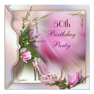 De Verjaardag van de Vlinder vijftigste van de 13,3x13,3 Vierkante Uitnodiging Kaart