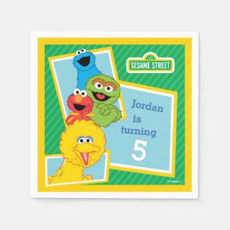 De Verjaardag van de Vrienden van het Sesame Papieren Servetten