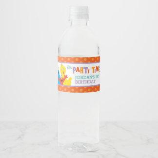 De Verjaardag van de Vrienden van het Sesame Waterfles Etiket
