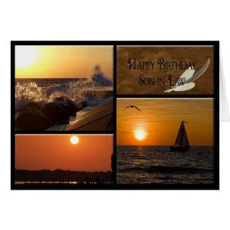 De Verjaardag van de zonsondergang voor Schoonzoon Kaart