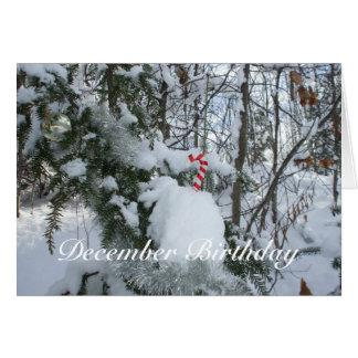 De Verjaardag van decoratie-December van het Riet Kaart
