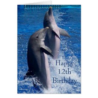 De Verjaardag van dolfijnen twaalfde Briefkaarten 0