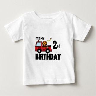 De Verjaardag van FireTruck Baby T Shirts