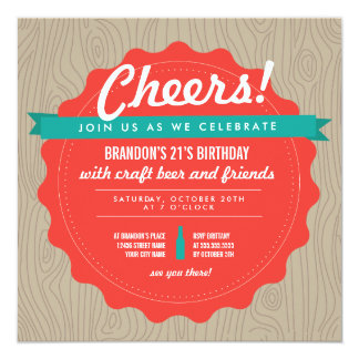 De Verjaardag van het Bier van de ambacht nodigt 13,3x13,3 Vierkante Uitnodiging Kaart
