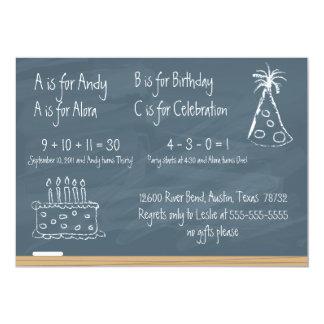 De Verjaardag van het bord 12,7x17,8 Uitnodiging Kaart