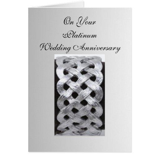 De Verjaardag van het Huwelijk van het platina zev Wenskaart