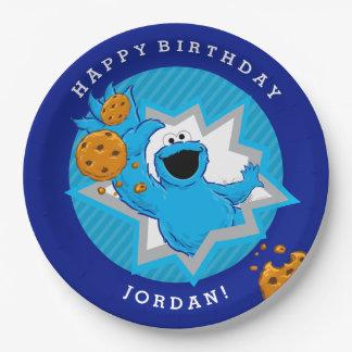 De Verjaardag van het Monster van het koekje Papieren Bordje