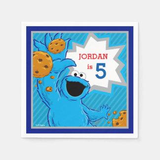De Verjaardag van het Monster van het koekje Wegwerp Servet