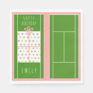 De Verjaardag van het tennis Papieren Servetten