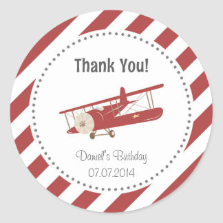 De Verjaardag van het vliegtuig dankt u Sticker