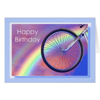 De Verjaardag van het Wiel van de fiets Wenskaart
