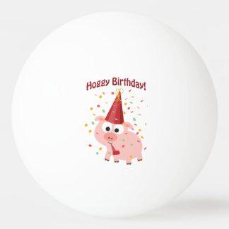 De Verjaardag van Hoggy! Pingpongballen