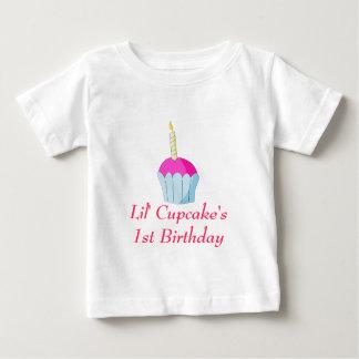 De Verjaardag van Lil Cupcake's1st Baby T Shirts
